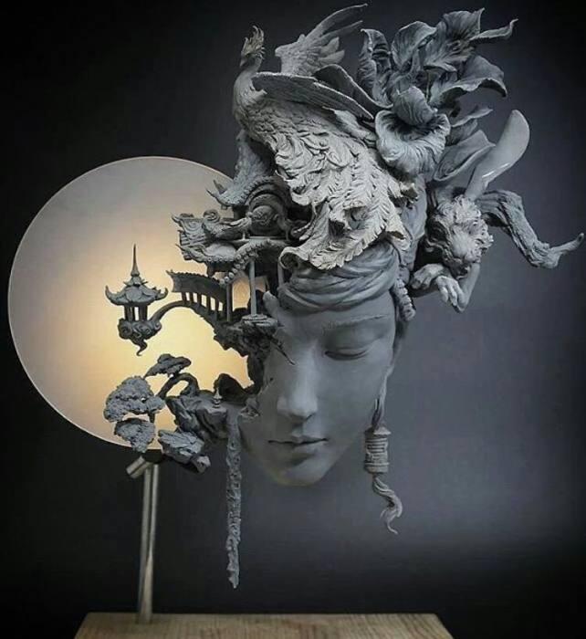 Полнолуние. Автор: Yuanxing Liang.