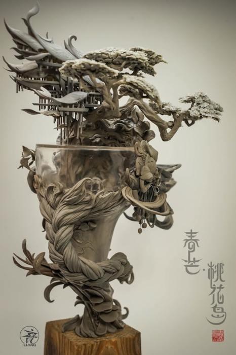 Скульптуры Юаньсиня просто поражают изобилием деталей и их проработкой.