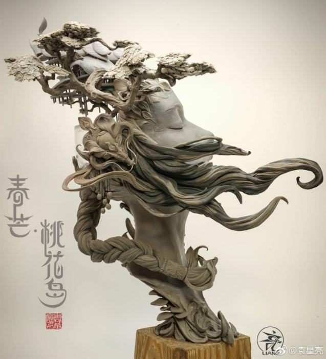Данная скульптура была продана на одном из аукционов Wonder Festival в Шанхае. Автор: Yuanxing Liang.