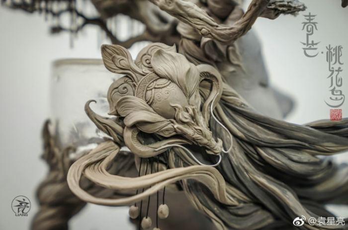 Фрагмент скульптуры Весенний маг: Остров персикового цветка. Автор: Yuanxing Liang.