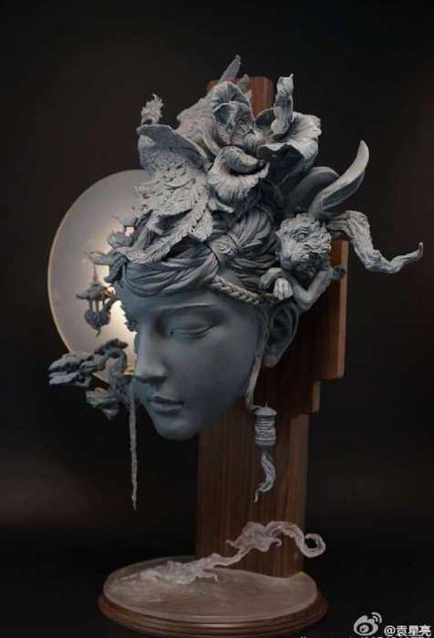 Особое очарование этим handmade скульптурам из глины придают тонкие детали в сказочном стиле. Автор: Yuanxing Liang.