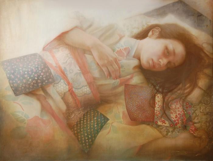 Нежные женские образы в работах японского художника  Юны Тсуру.