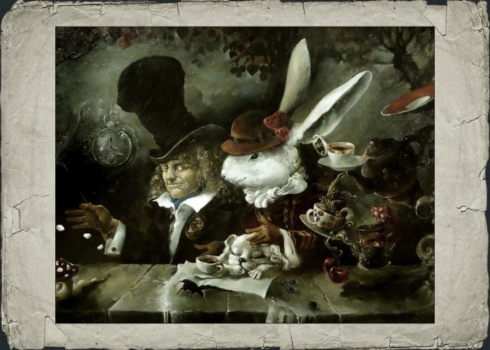 Белый кролик. Автор: Юрий Лаптев.