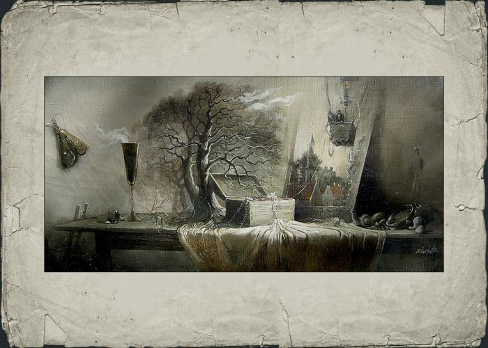 Натюрморт со шкатулкой. Автор: Юрий Лаптев.