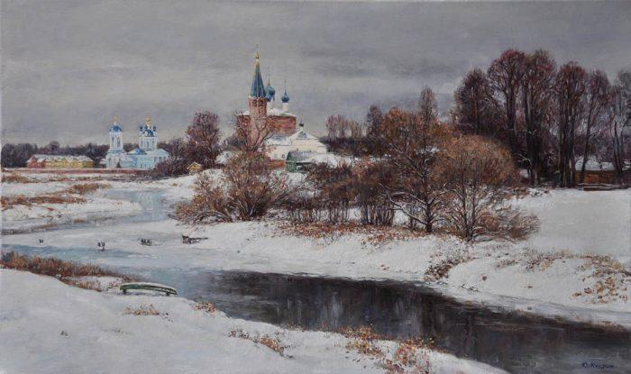 Снег выпал только в январе. Автор: Юрий Кудрин.