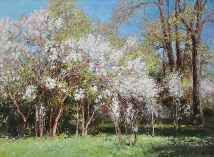 Цветущий сад. Автор: Юрий Кудрин.