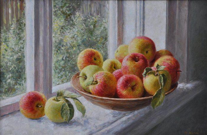 Яблоки на окне. Автор: Юрий Кудрин.