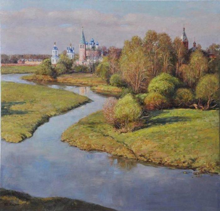 Течёт река Теза. Автор: Юрий Кудрин.