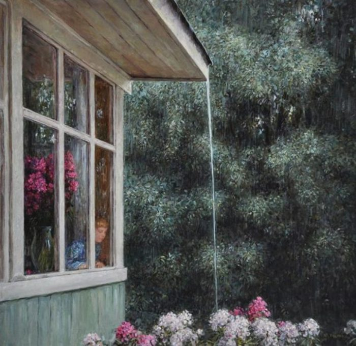 На улице дождь. Автор: Юрий Кудрин.