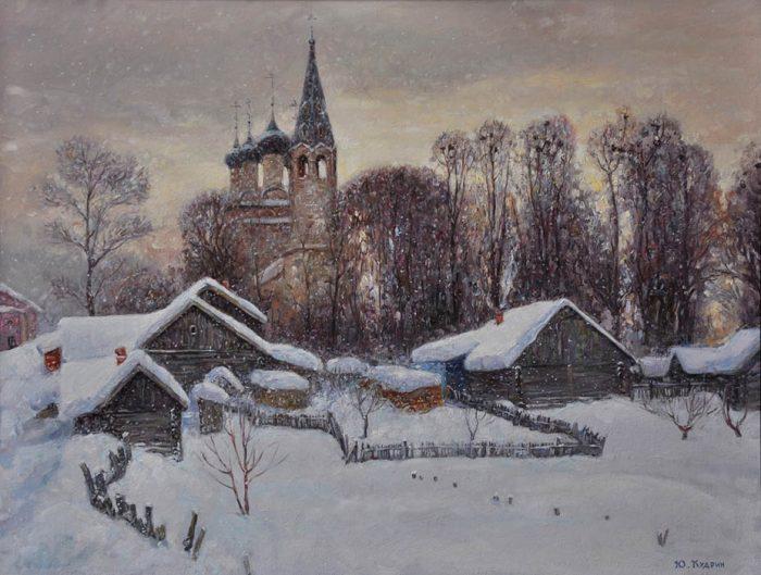 Снежная зима. Автор: Юрий Кудрин.