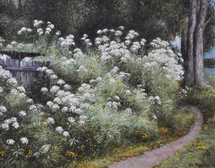 Цветы у тропинки. Автор: Юрий Кудрин.