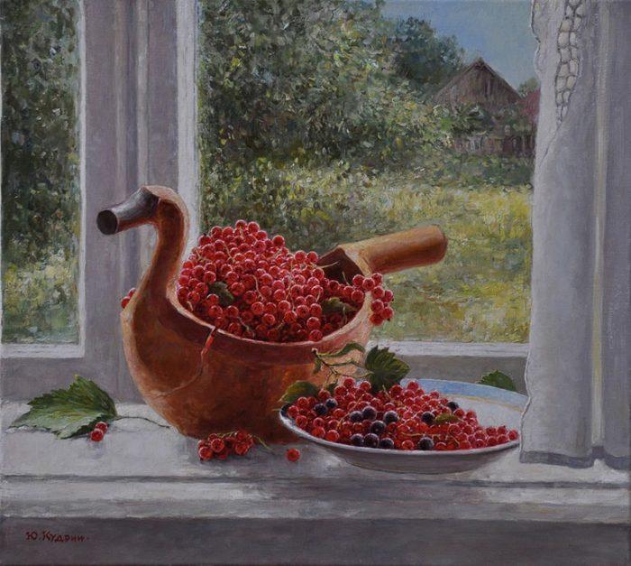 Ягоды на окне. Автор: Юрий Кудрин.