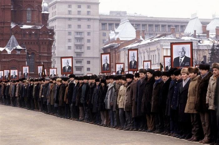 Похороны Константина Черненко. Москва, 1985 год. Автор: Юрий Абрамочкин.