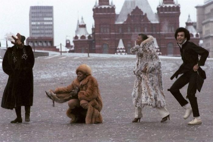 «Бони Эм» на Красной площади, 1978 год. Автор: Юрий Абрамочкин.