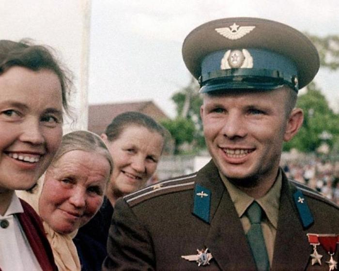Юрий Гагарин, Гжатск, 1961 год. Автор: Юрий Абрамочкин.