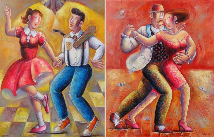 Зажигательные танцы. Автор: Yutao Ge.