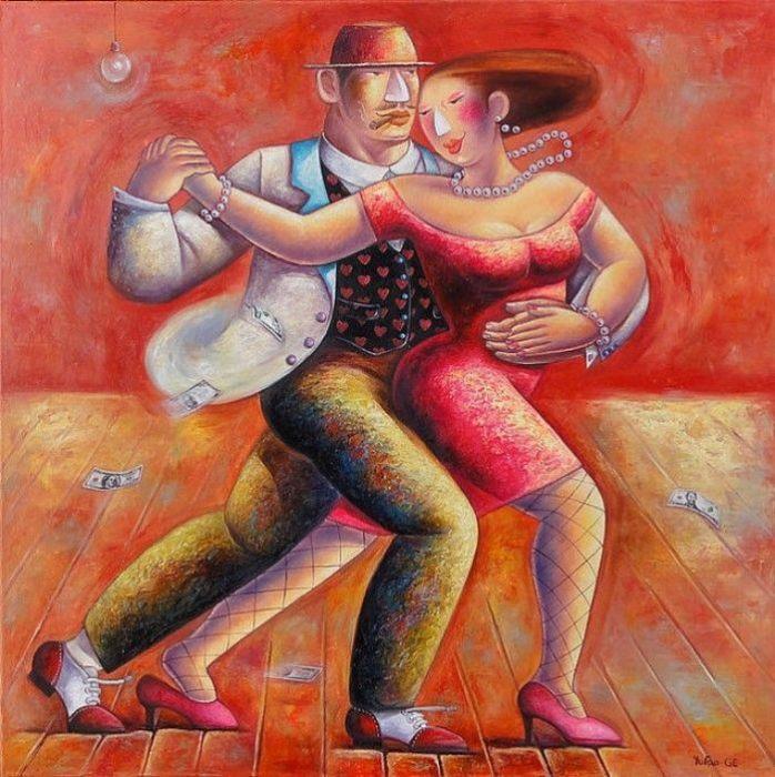 Страстный танец. Автор: Yutao Ge.