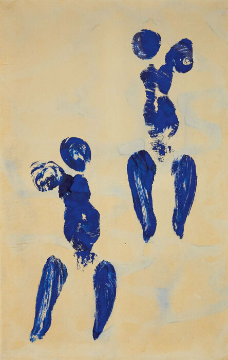 Антропометрия: Отпечатки, Ив Кляйн, 1960 год. \ Фото: alaintruong.com.