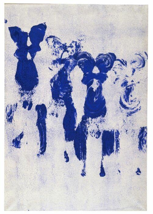 Антропометрия: Без названия, Ив Кляйн, 1961 год. \ Фото: wemp.app.