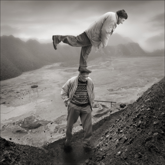 Научиться летать вместе с папой. Автор: Yves Lecoq.
