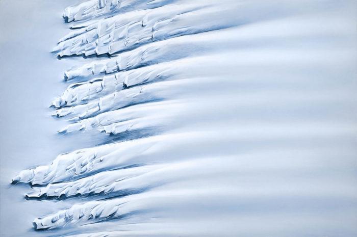 Шельфовые ледники в Антарктиде. Автор: Zaria Forman.