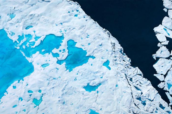 Северный Ледовитый океан. Автор: Zaria Forman.