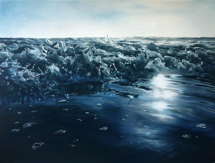Брызги воды и капли. Автор: Zaria Forman.