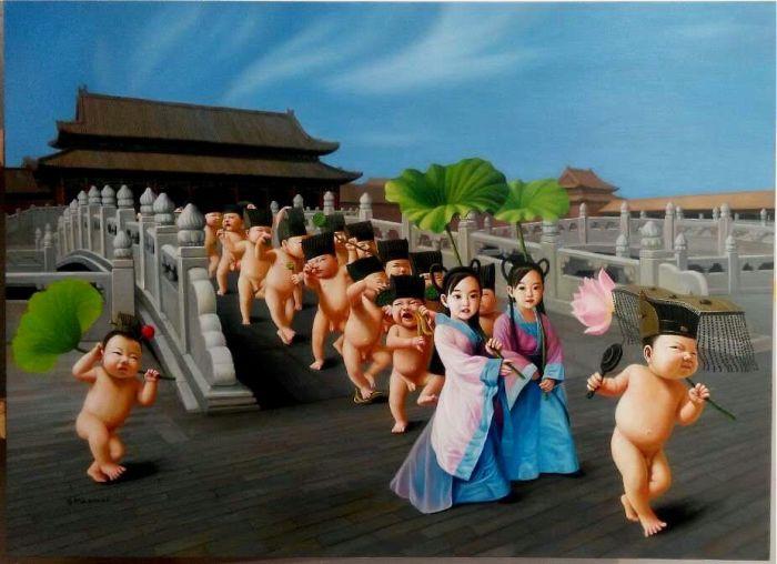 Новая одежда императора - лотос-бал. Автор: Zhao Limin.