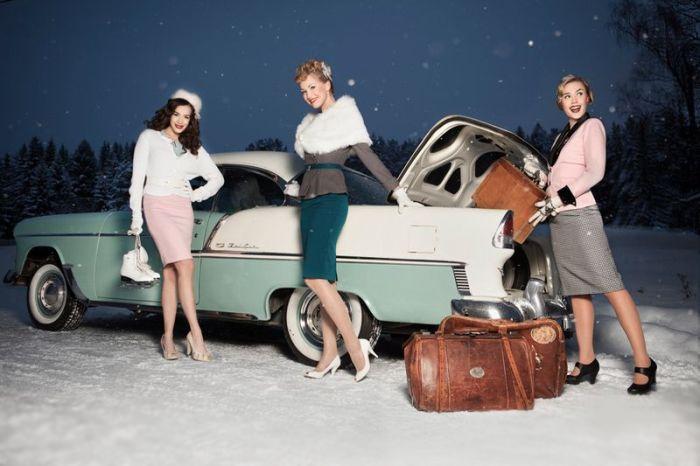 Три девицы и авто.