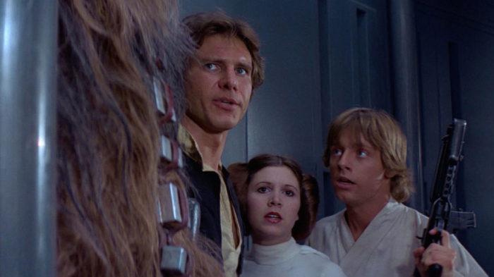 Кадр из фильма Звёздные войны.
