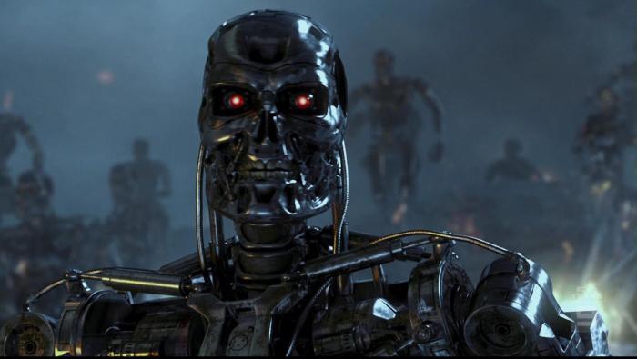 Кадр из фильма Терминатор 2: Судный день.
