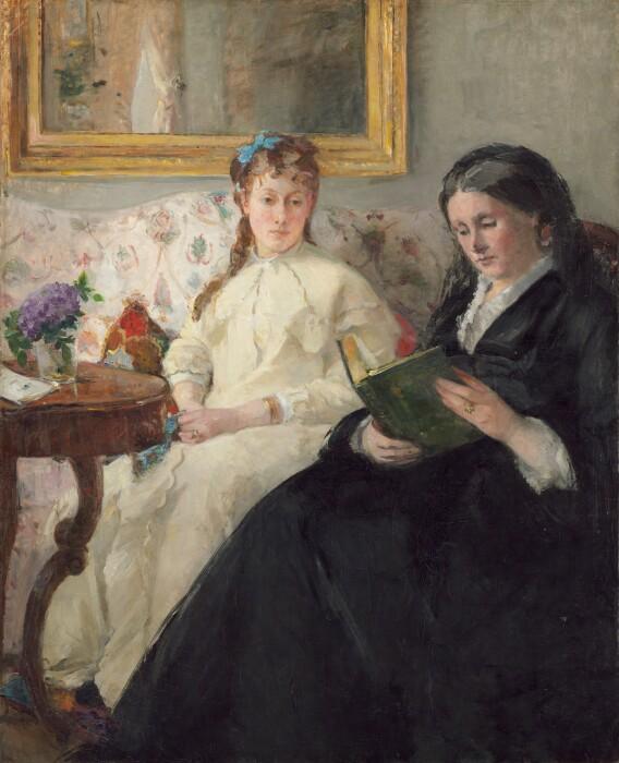 Мать и сестра художника Берты Моризо, 1869-70 гг. \ Фото: mobile.twitter.com.