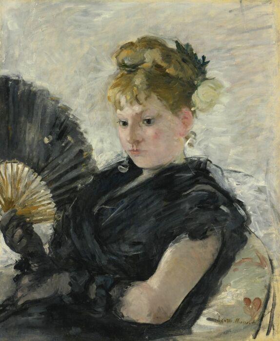 Женщина с веером, Берта Моризо , 1876 год. \ Фото: ivejournal.com.