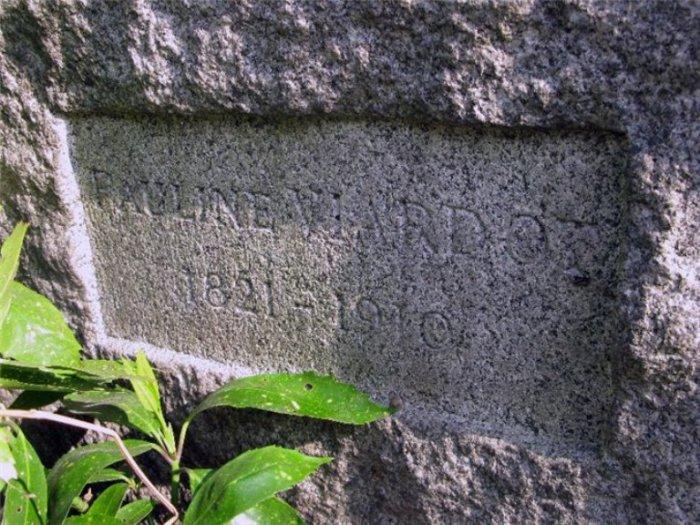 На фото могила Полины Виардо на кладбище Монмартра.