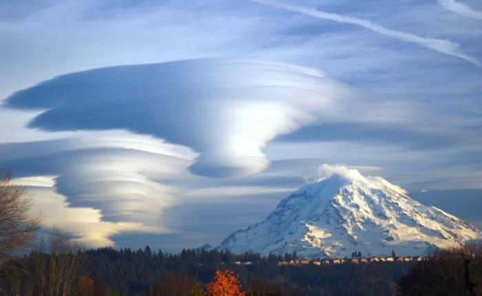 Смерчеобразные облака.