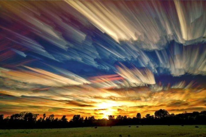 Радужные облака.