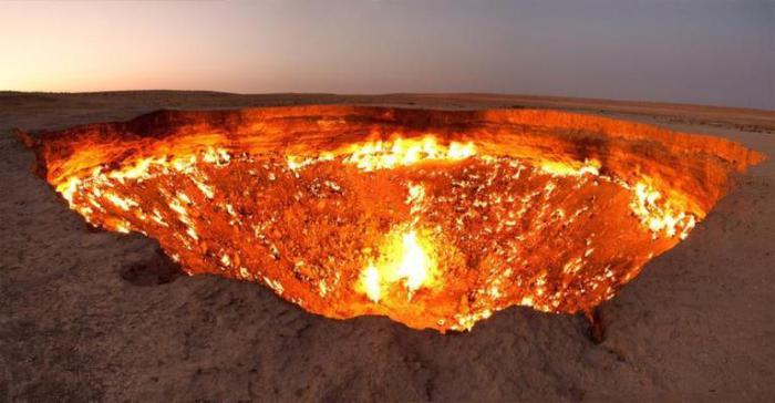 Место с устрашающим названием «дверь в ад», расположилось в Туркмении.