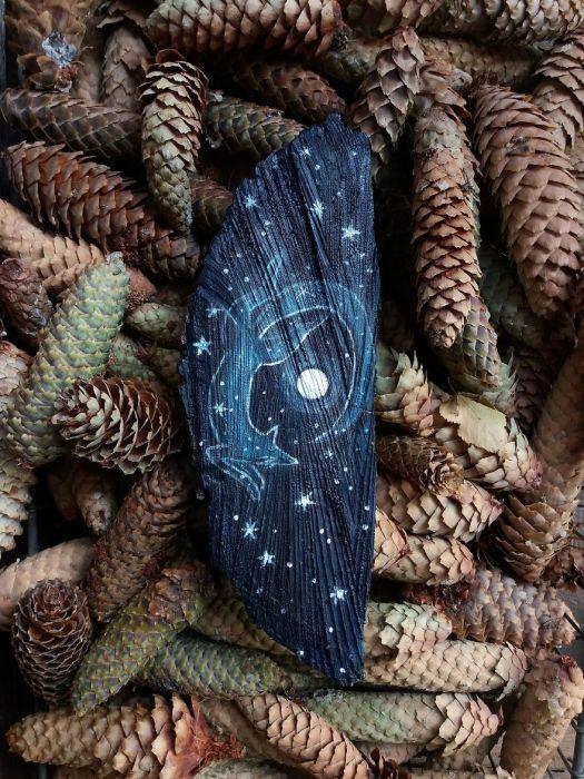 Лиса в звёздном лесу. Автор: Анна.