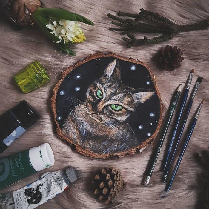 Зеленоглазый кот. Автор: Анна.