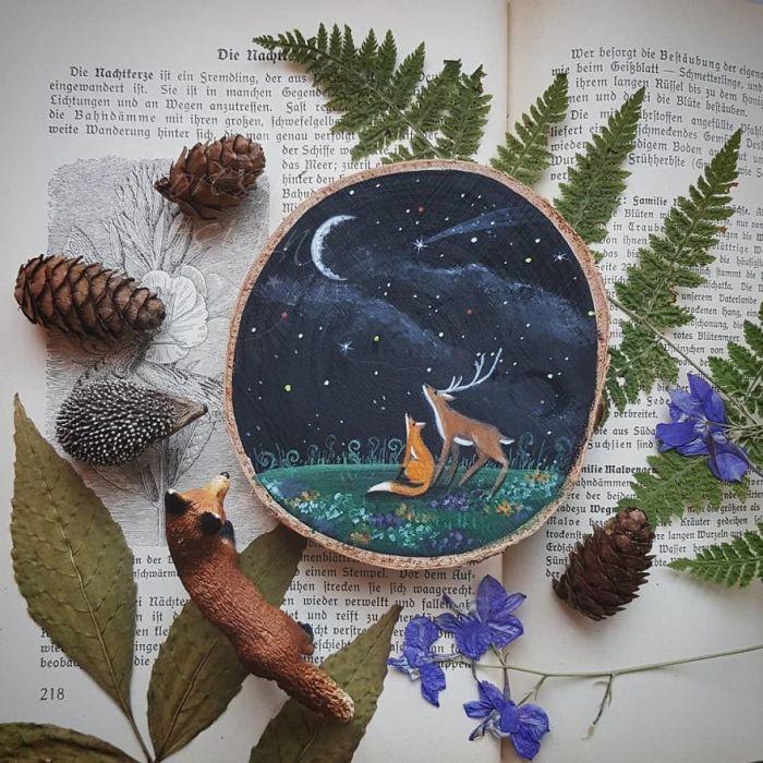 Звёздная ночь. Автор: Анна.