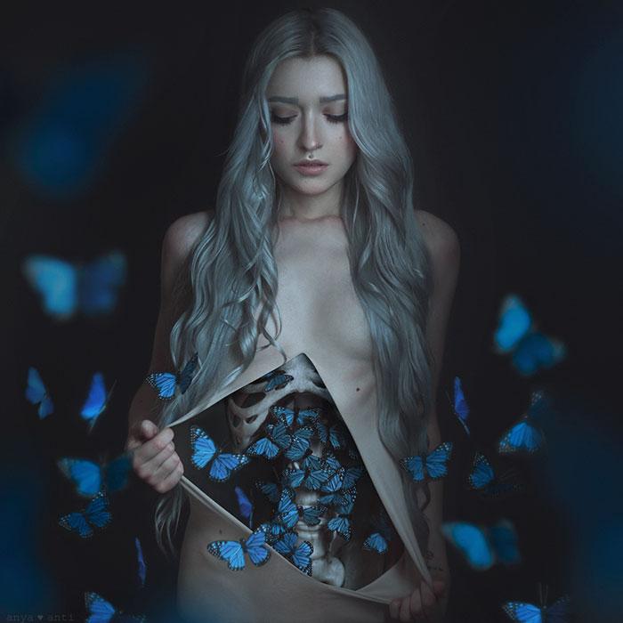 Готовый результат. Бабочки в животе. Автор: Аня Анти.