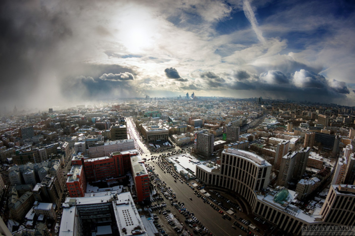 Буря в Москве. Автор фото: Sergey Alimov.