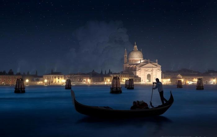Рождественская ночь в Венеции. Автор фото: Daniel Metz.