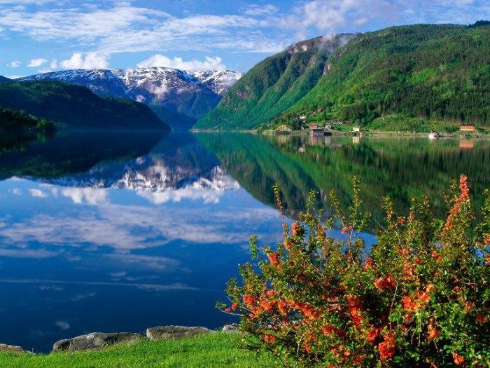 Красочные просторы Норвегии.