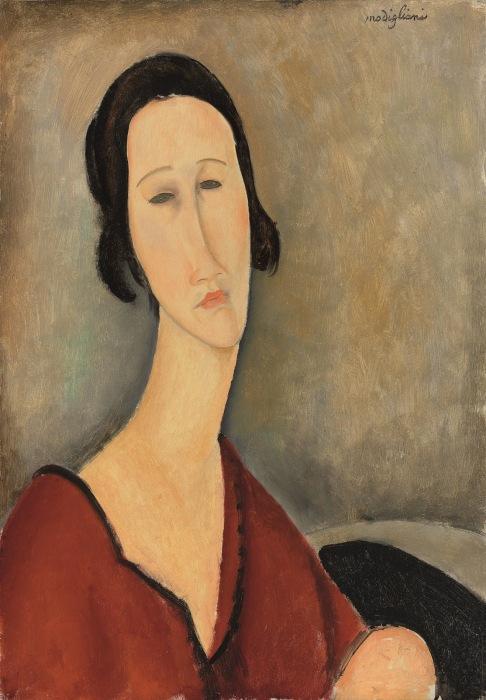Мадам Ханка Зборовская, Амедео Модильяни, 1917 год. \ Фото: tuttartpitturasculturapoesiamusica.com.