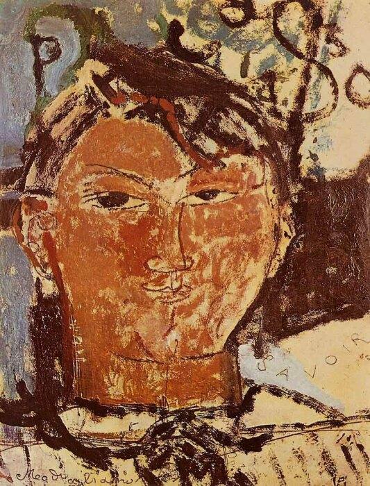 Портрет Пабло Пикассо, Амедео Модильяни, 1915 год. \ Фото: tabletmag.com.