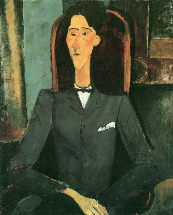 Портрет Жана Кокто, Амедео Модильяни. \ Фото: nl.pinterest.com.