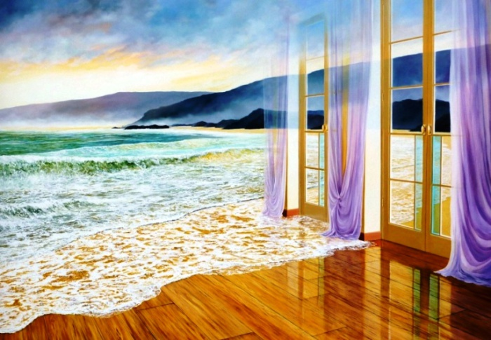 Сюрреалистические картины Neil Simone. Отражение.