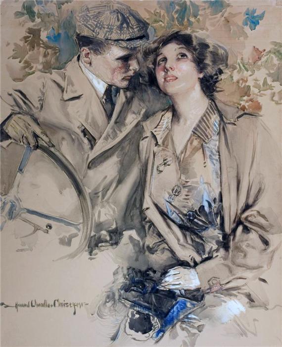 Романтическое настроение в иллюстрациях Говарда Чендлера Кристи (Howard Chandler Christy).