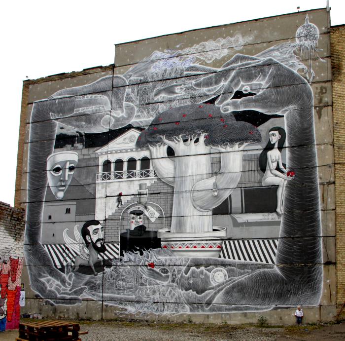 Необычные граффити от Алексея Кислова.